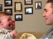 Clip Eva - Video: Bé gái khóc nấc khi thấy bộ râu của bố biến mất