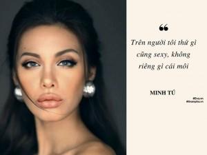 """Người mẫu Minh Tú: Mọi người có thể chê tôi chợ búa nhưng không được phép nói tôi """"mất dạy"""""""