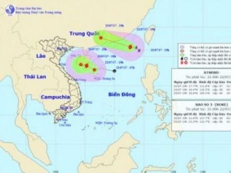 Dự báo thời tiết ngày 23/7: Tin mới nhất về bão số 3 trên Biển Đông
