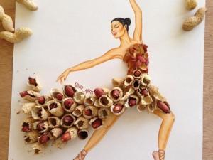 Những thiết kế thời trang được khơi nguồn cảm hứng từ ... thức ăn