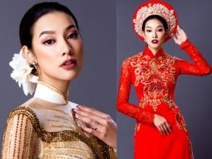 Lilly Nguyễn quyến rũ thả dáng trong tà áo dài cưới