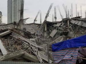 Hà Nội: Trường mầm non Vườn Xanh nghìn mét đang thi công bất ngờ sập trong đêm