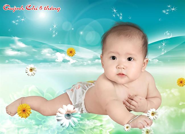 Cô bé tròn tròn xinh xinh này có tên là Lương Ngọc Quỳnh Chi đó nha.