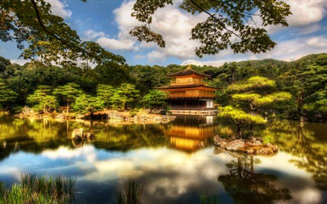 Chùa Kinkakuji - Chùa Vàng còn có một tên gọi khác là Chùa ROKUONJI nằm tại phía Tây Bắc của Kyoto. Quần thể chùa được xây vào năm 1393 và dùng làm nơi nghỉ ngơi cho Tướng quân Yoshimitsu Ashikaga (1358- 1408).
