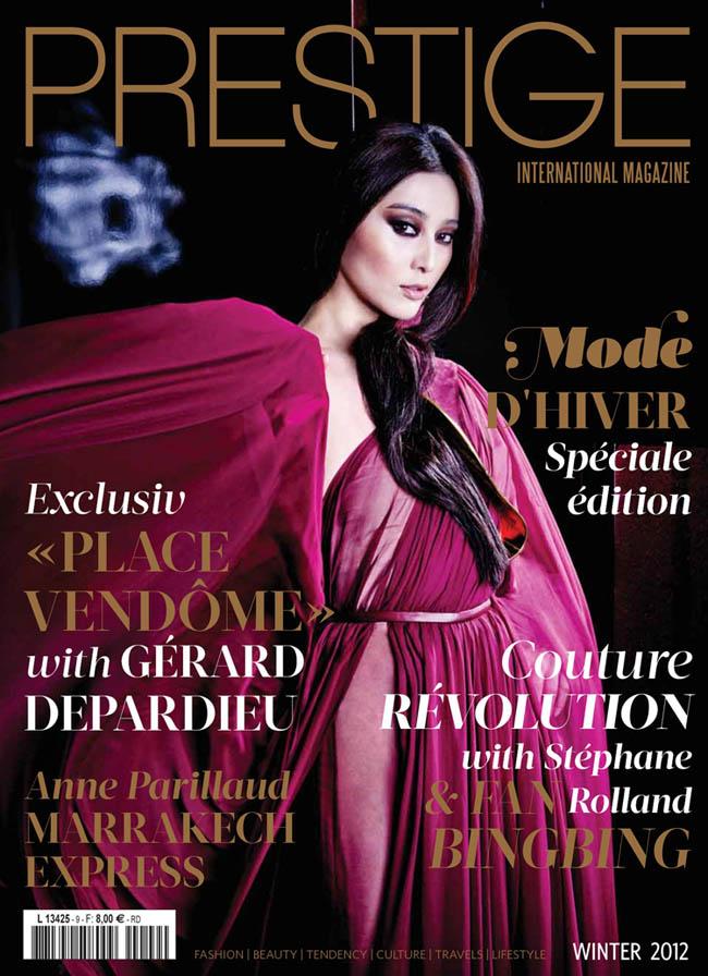 Mỹ nhân hàng đầu của làng nghệ Hoa ngữ Phạm Băng Băng khiến khán giả không khỏi ngỡ ngàng khi xuất hiện trên trang bìa của tạp chí Prestige của Pháp.