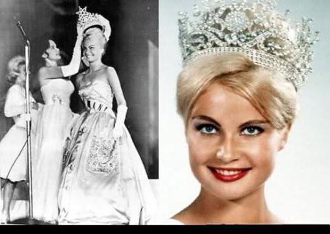 Hoa hậu hoàn vũ năm 1961 Marlene Schmidt đến từ Đức, bà sở hữu đẹp ngọt ngào.