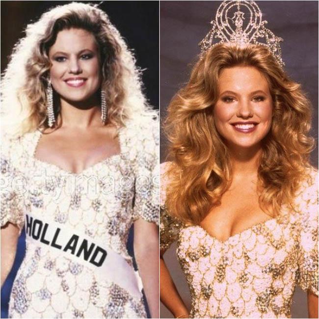 Năm 1989, người đẹp Hà Lan Angela Visser đăng quang Hoa hậu hoàn vũ trong sự ủng hộ của hàng triệu người hâm mộ. Mái tóc vàng rực, nụ cười tỏa nắng và đường cong quyến rũ lý giải vì sao Angela Visser xứng đáng đội vương miện.