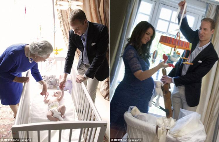 Trong trí tưởng tượng của nghệ sỹ Alison Jackson, Công nương Kate lại đang mang bầu em bé tiếp theo.