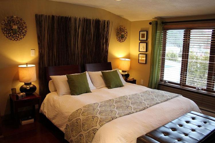 Nền của phòng ngủ không nên trải thảm, dễ hấp thụ hơi ẩm mà gây nên nấm mốc, tổn thương hệ thống hô hấp, đặc biệt loại thảm lông dài càng bất lợi.