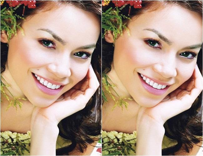Nhất là khi cười, viền mũi dày càng làm chiếc mũi của người đẹp thêm to.