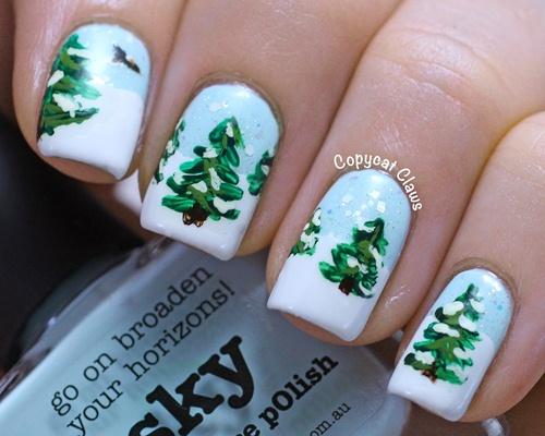 Nail Noel 2013   Tips vẽ nail cây thông Noel ĐẸP quá dễ