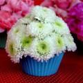 Nhà đẹp - Lạ mắt kiểu cắm hoa hình bánh cupcake