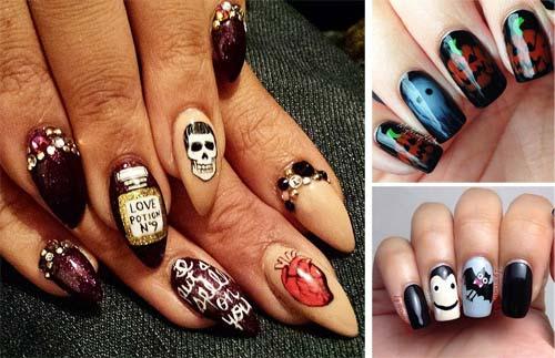 Ve nail Halloween : Chơi trội với cách vẽ nail Halloween