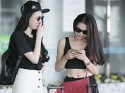Thời trang - Trà Ngọc Hằng, Vũ Hoàng Điệp nổi bật tại sân bay