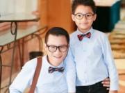 Hậu trường - Con trai Hoàng Bách điển trai đi sự kiện cùng bố