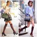 """Thời trang Sao - Taylor Swift """"nghiện"""" mốt tất cao gối"""