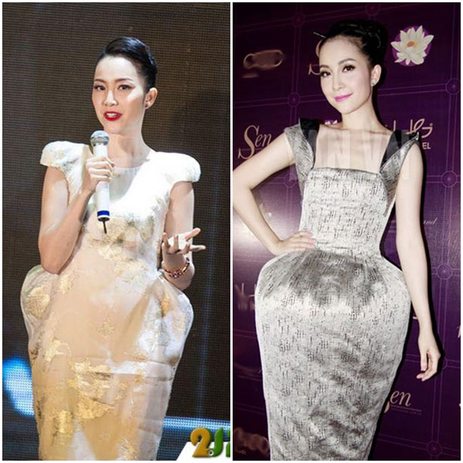 Nữ diễn viên múa Linh Nga cũng là một 'tín đồ' của mốt váy này.