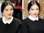 Thời trang - Lý Nhã Kỳ mặc đầm đen kín mít