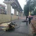 Tin trong nước - Sắt rơi làm chết người đi đường: Đình chỉ đơn vị thi công