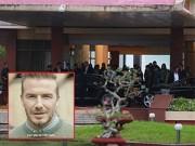 Làng sao - David Beckham bí mật đi cổng VIP về khách sạn