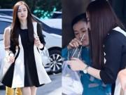 Hậu trường - Angela Phương Trinh xinh đẹp ghé hàng xôi của mẹ