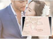 Hậu trường - Ngắm thiệp cưới đơn giản, tinh tế của Quỳnh Nga