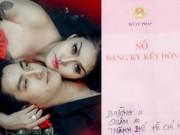 Hậu trường - Phi Thanh Vân vui mừng khoe giấy chứng nhận kết hôn