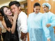 """Hậu trường - Trương Nhi ôm bạn trai, Nguyên Khang chăm sóc """"bạn gái"""""""