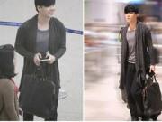 Làng sao - Nathan Lee sốt cao vẫn sành điệu tại sân bay