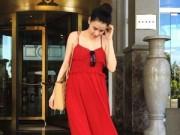 Làng sao sony - Trang Nhung bụng bầu 4 tháng đi nghỉ mát