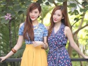 Phẫu thuật thẩm mỹ - Cặp chị em song sinh tạo 'sóng' vì giống hệt mỹ nữ Hàn
