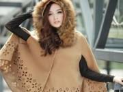 Thời trang - Tư vấn thời trang: Cách mặc áo cape cho nàng nấm lùn