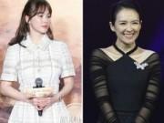 Hậu trường - Song Hye Kyo mặt lạnh lùng bên Chương Tử Di