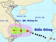 Tin tức - Bão số 4 cách bờ biển Phú Yên - Khánh Hòa 210km
