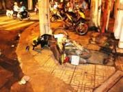 Pháp luật - Nam thanh niên bị kẹt cứng ở miệng cống sau TNGT
