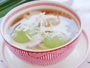 Bếp Eva - Chè trôi nước lá dứa nhân đậu xanh ấm nóng