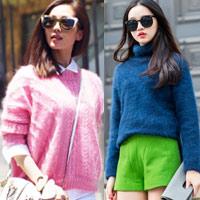 Tư vấn thời trang: Béo mặc áo len xù thế nào?