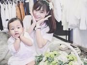 """Làm mẹ - Hot mom Hà Nội và cô con gái 17 tháng có style cực """"chất"""""""