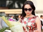 Làng sao - Tân Hoa hậu Kỳ Duyên đẹp rạng rỡ tại sân bay Nội Bài