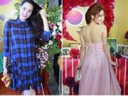 """Làng sao - Trang Nhung """"giấu"""" bụng bầu, Diễm My 9x xinh rạng rỡ"""