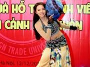 Thời trang - Hoa hậu Kỳ Duyên múa nón lá khoe eo trắng mịn