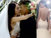 Thời trang cưới - Thủy Tiên mặc váy cưới lộ hình xăm
