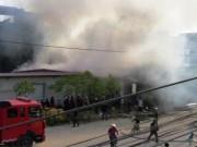 Tin tức - Hải Phòng: Cháy xưởng nến giữa khu dân cư