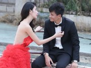 Làng sao sony - Thủy Tiên diện váy cưới nửa tỷ đồng chụp ảnh với Công Vinh