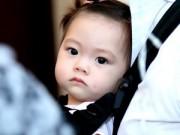 """Hậu trường - Đoan Trang bị """"lu mờ"""" vì vẻ đẹp lai Tây của con gái"""