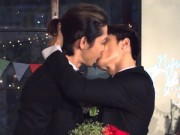 """Làng sao sony - Lâm Vinh Hải hôn người yêu đồng tính trong """"tiệc cưới"""""""