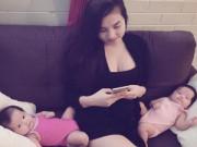Bà bầu - Mang thai đôi: Mẹ tăng 13kg, mỗi bé nặng 3kg