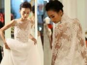 Làng sao - Lê Thúy một mình đi thử váy cưới