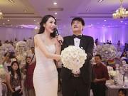 Làng sao - Công Vinh - Thủy Tiên thích thú tung hoa cưới