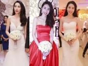 Thời trang Sao - Thủy Tiên diện 3 váy cưới hoành tráng trong hôn lễ